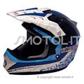 One Casco integrale da cross enduro BLU STEP 2 RACE omologato